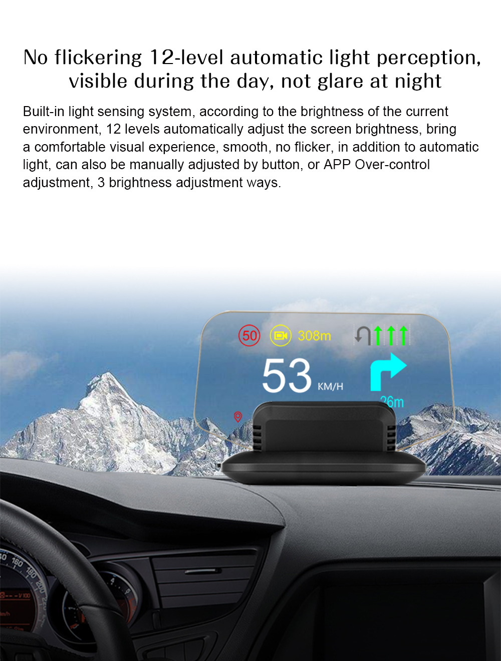 C1 HUD Mirror with Navigation system  (15)