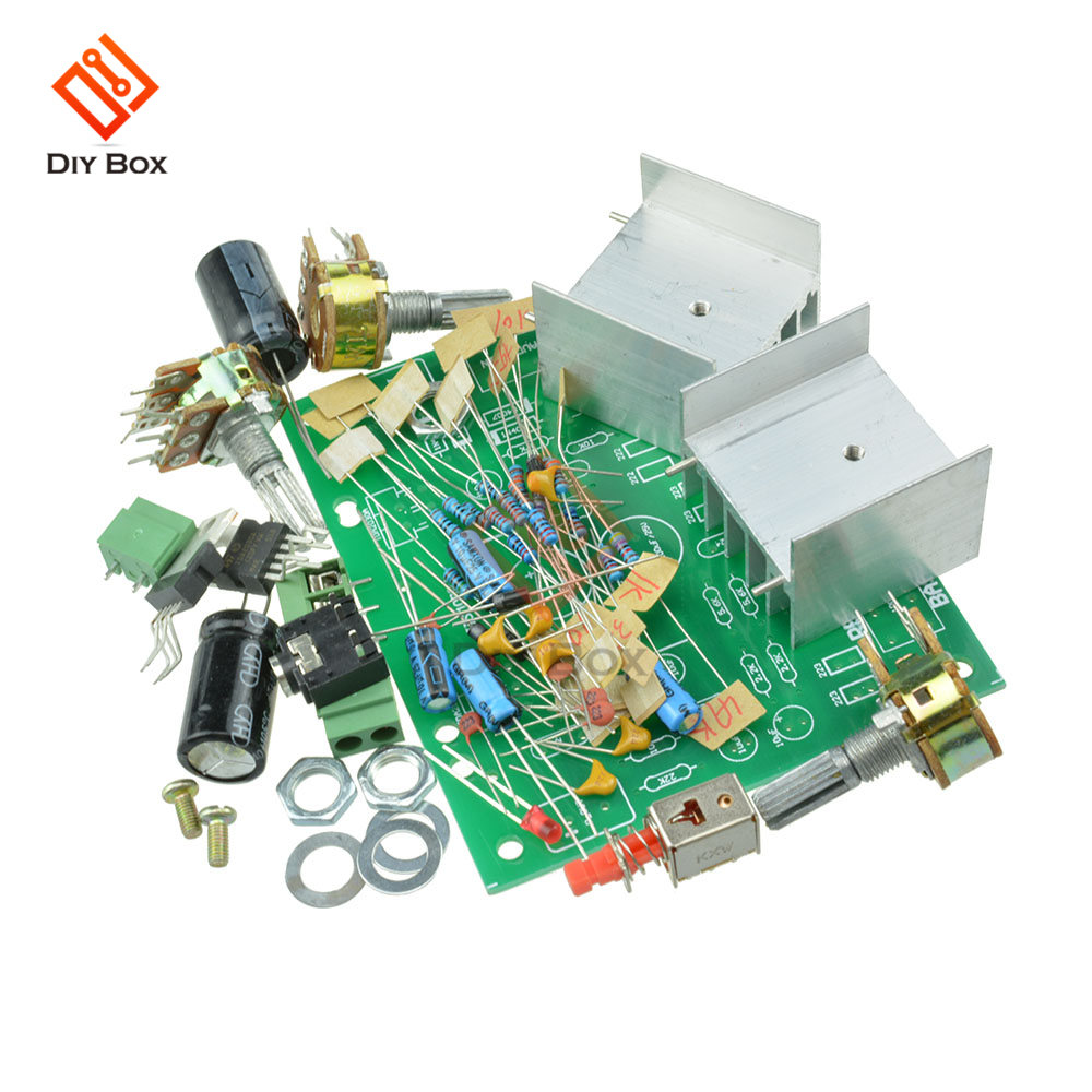 TDA2030A Hifi Audio Amplifier Board Module Stereo AMP AC 12V Dual Channel 15W+15W Diy Kit Electronic PCB Board Module