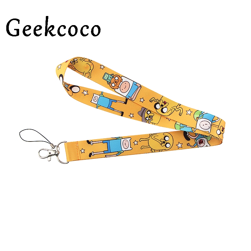Funny Blue Cartoon Lanyard Keychains Accessory For Mobile Phone USB ID Badge Holder Keys Straps Tags Neck Lanyard For Kid J1086