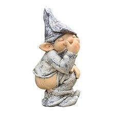 1pcs Resin Naughty Fairy Gnome Statue Figurine 13cm Patio Lawn Garden Ornament