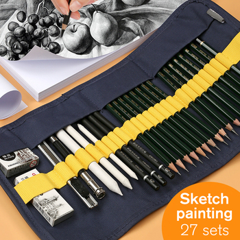 Deli 27pcs Sketch Pencil Set Professional Sketching Drawing Tool Kit For Beginner Wood Pencils For School Students Art Supplies new hot authentic sketch drawing charcoal pencil eraser tool kit beginner art supplies arts sets