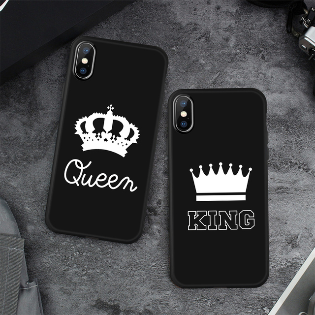 Soft Matte Couple Phone Case For iPhone XS MAX XR 7 6 6S 8 Plus X Case Fashion Silicone Soft TPU Cover For iphone XS MAX 5 5s SE
