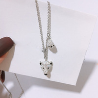High Quality SWA. {New Type} Clavicle Chain Crystal White Cute Polar Bear Necklace