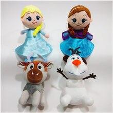 Disney nowe filmy Frozen2 20cm księżniczka anna Elsa lalki królowa śniegu Sven Olaf wypchane pluszowe lalki dla dzieci zabawki świąteczne prezenty
