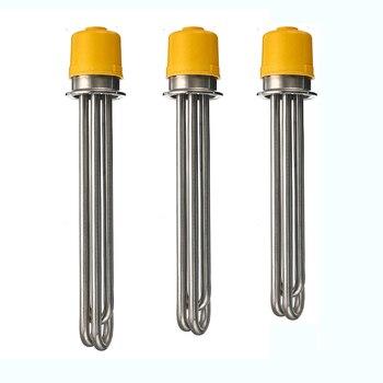 XNEMON 1 pieza 220V tri-clamp 2 OD64 calentador SS304 calentador de agua eléctrico elemento calentador 260mm/280mm/300mm 3,0 kW/4.5kW/6kW
