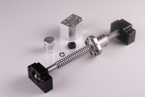 Image 5 - SFU1605 ชุด RM1605 รีดสกรูบอล C7 ด้วยปลายกลึง + 1605 NUT & NUT HOUSING BK/BF12 end สนับสนุน + 8mm x 10mm Coupler
