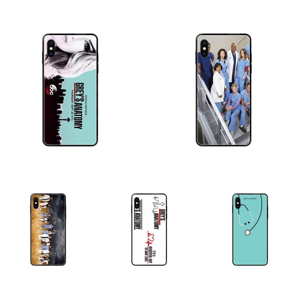 2019 Vintage Grey's Anatomy For iPhone 11 12 Pro XS Max X 8 7 6s Plus 5 SE 11 12 XR SE 2020 Custom Pattern Black Soft Shell