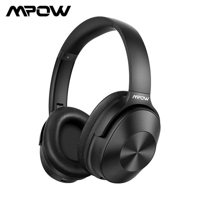Mpow H12 ANC หูฟังบลูทูธหูฟังไร้สายตัดเสียงรบกวนชุดหูฟัง H Playtimes Deep BASS สำหรับสมาร์ทโฟน