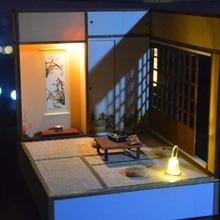 Wooden Doll House Miniature Furniture With LED Kit Japanese Anime Scene Dollhouses DIY Assemble Toys for Children Gift Casa