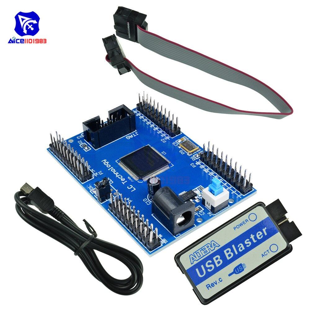 Diymore-tablero de desarrollo CPLD Altera Max II EPM240, placa de aprendizaje Blaster USB, Cable de conexión JTAG de 10 pines, Cable Mini USB