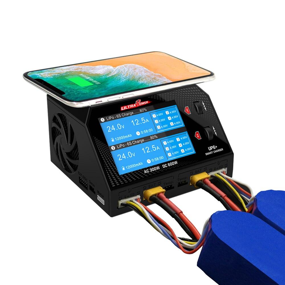 UP6 Plus AC Intelligent 2x150 W DC 2x300 W double Ausgang RC Modell Multifunktions chargeur d'équilibre Intelligent