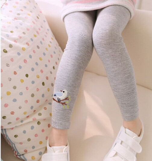 Toddler Baby Girls Leggings Kids Pants Warm Leggings Girl Pattern Stretchy Pants Trousers