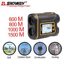 цена на SNDWAY Range Finder For Golf Telescope Laser Distance Meter For Hunting/Speed/Angle/Sport/Golf Slope Measuring Tool 1000M 1500M
