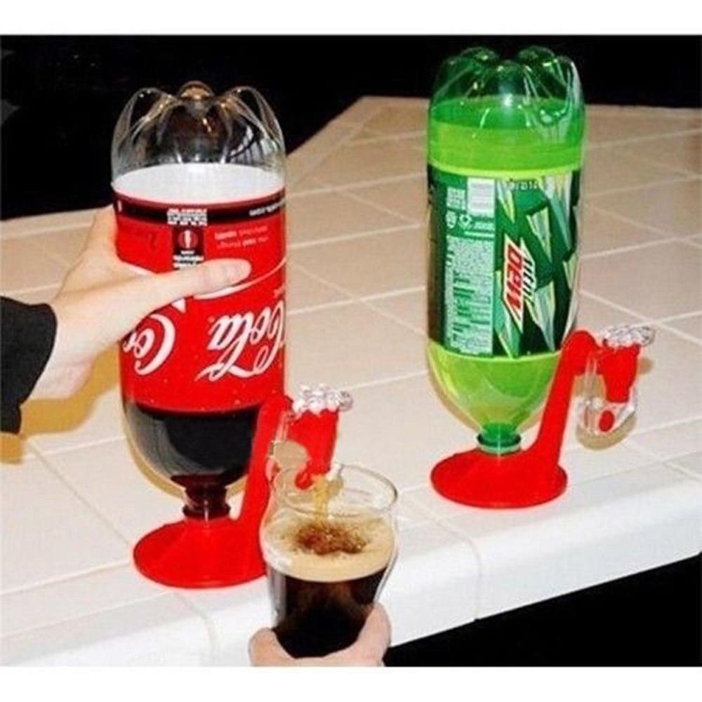 H8f0dad29e9d74a71b14c971db4909df6g Novelty Soda Dispenser Bottle Coke Upside Down Drinking Water Dispense Machine Home Bar Party Gadget