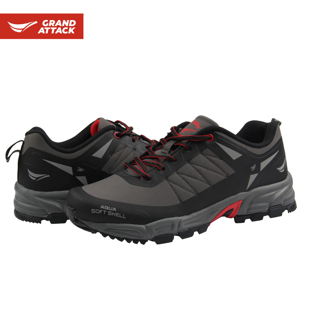 Grand Attack Soft Shell Lace Up Men's Outdoor Shoes Trainers Hiking Trekking Hunting Fishing Backpacking