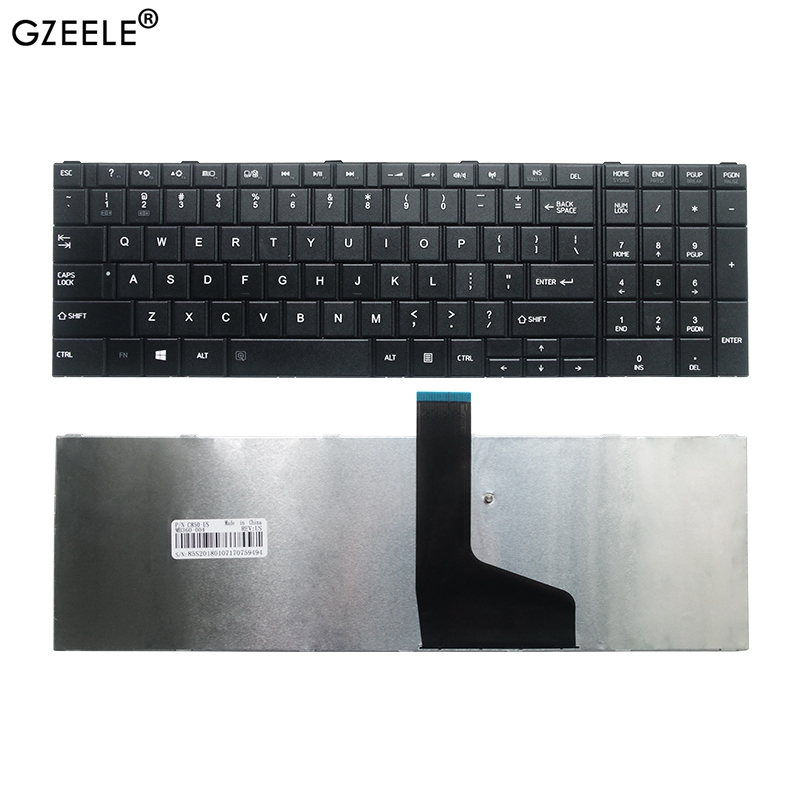 NEW US Keyboard For TOSHIBA FOR SATELLITE C850 C850D C855 C855D L850 L850D L855 L855D L870 L870D US Black Laptop Keyboard
