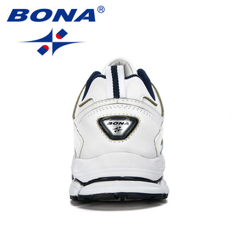 BONA 2019 New Designer Fashion Krasovki Men's Casual Shoes Male Cow Split Leather Sneakers Lightweight Shoes Tenis Masculino 2