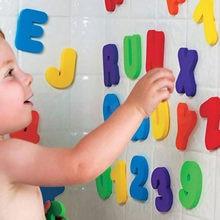 26 pçs letras do alfabeto + 10 pçs números árabes kits multicolorido espuma número da letra modelo de desktop decoração crianças brinquedos banho
