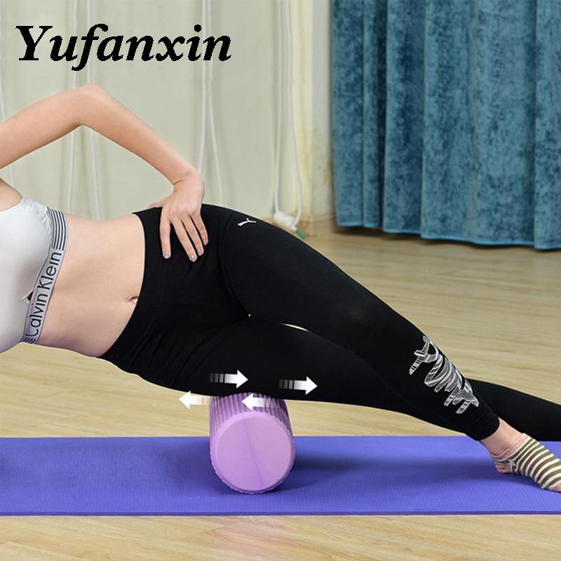 30/45/60CM Yoga Foam Roller High-density EVA Muscle Roller Self Massage Tool For Gym Pilates Yoga Fitness Gym Equipment