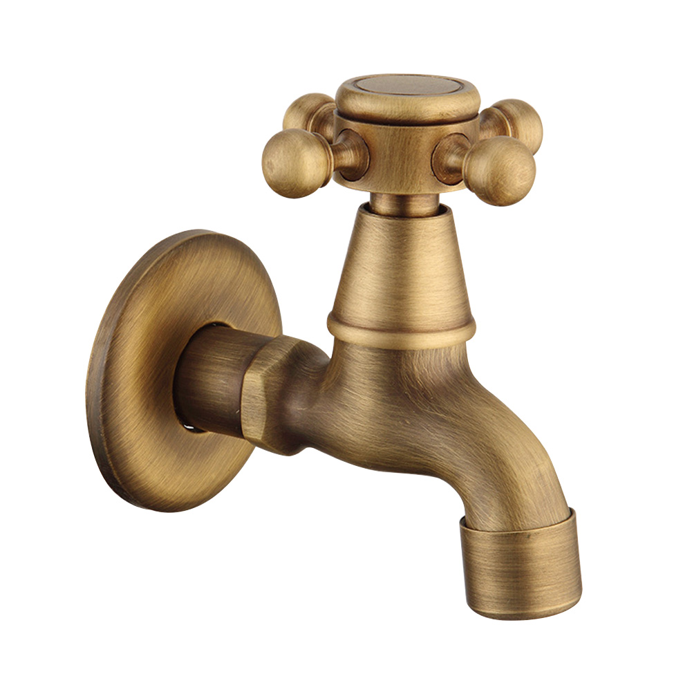 Mop Pool Faucet Copper Replacement Part Restaurant Toilet Retro Antique Brass Bibcock Durable Washing Machine Tap Cafe Bathroom