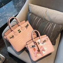 free shipping the new style Popular in Europe and America alligator genuine cow leather women handbag one shoulder crossbody bag the new europe and the united states imported genuine leather single shoulder bag handbag free shipping page 7