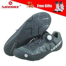 SIDEBIKE дышащая сетка Мужская и женская обувь для дорожного велосипеда, обувь для велоспорта, сверхлегкие Нескользящие кроссовки для горного велосипеда MTB с противоскользящим замком
