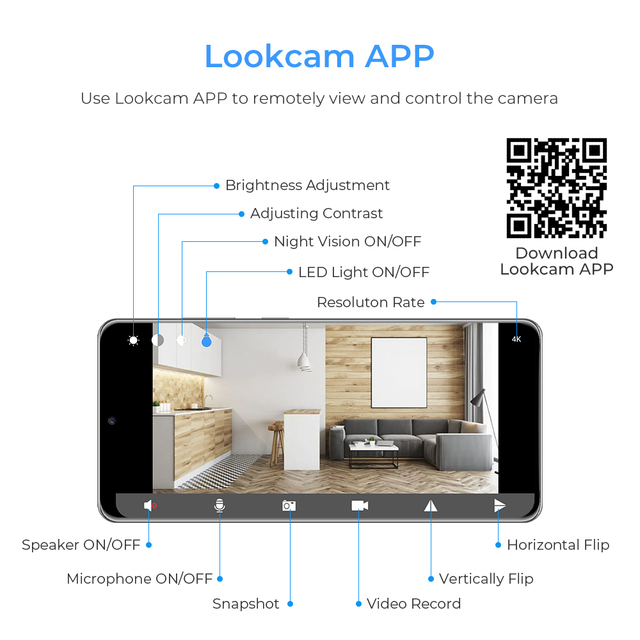 full hd 1080p HD Wireless  micro camera  sensor night vision 6