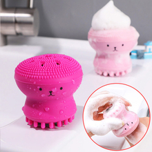 Facial Cleansing Brushes Silicone Cute Octopus Facial Cleanser Pore Cleanser Exfoliator Face Scrub Washing Brush Skin Care Tools