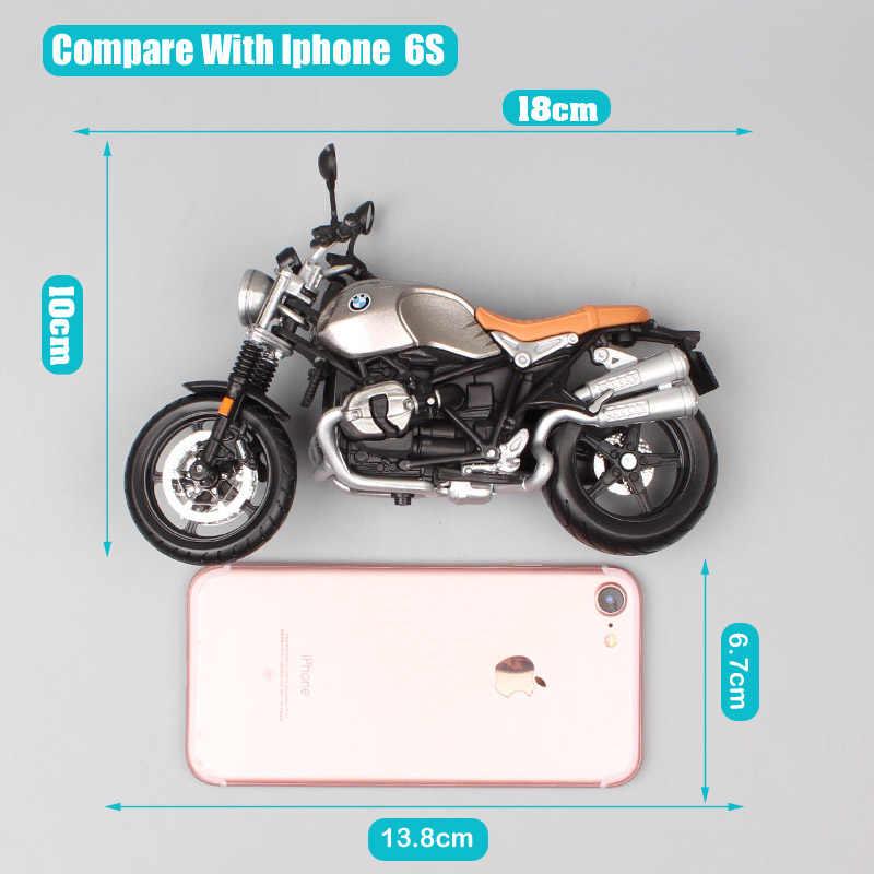 Klasik Maisto 1:12 Skala Moto Rrad R Ninet Scrambler Retro Roadster Kendaraan Diecast Moto Rcycles Moto Sport Bike Model Mainan anak