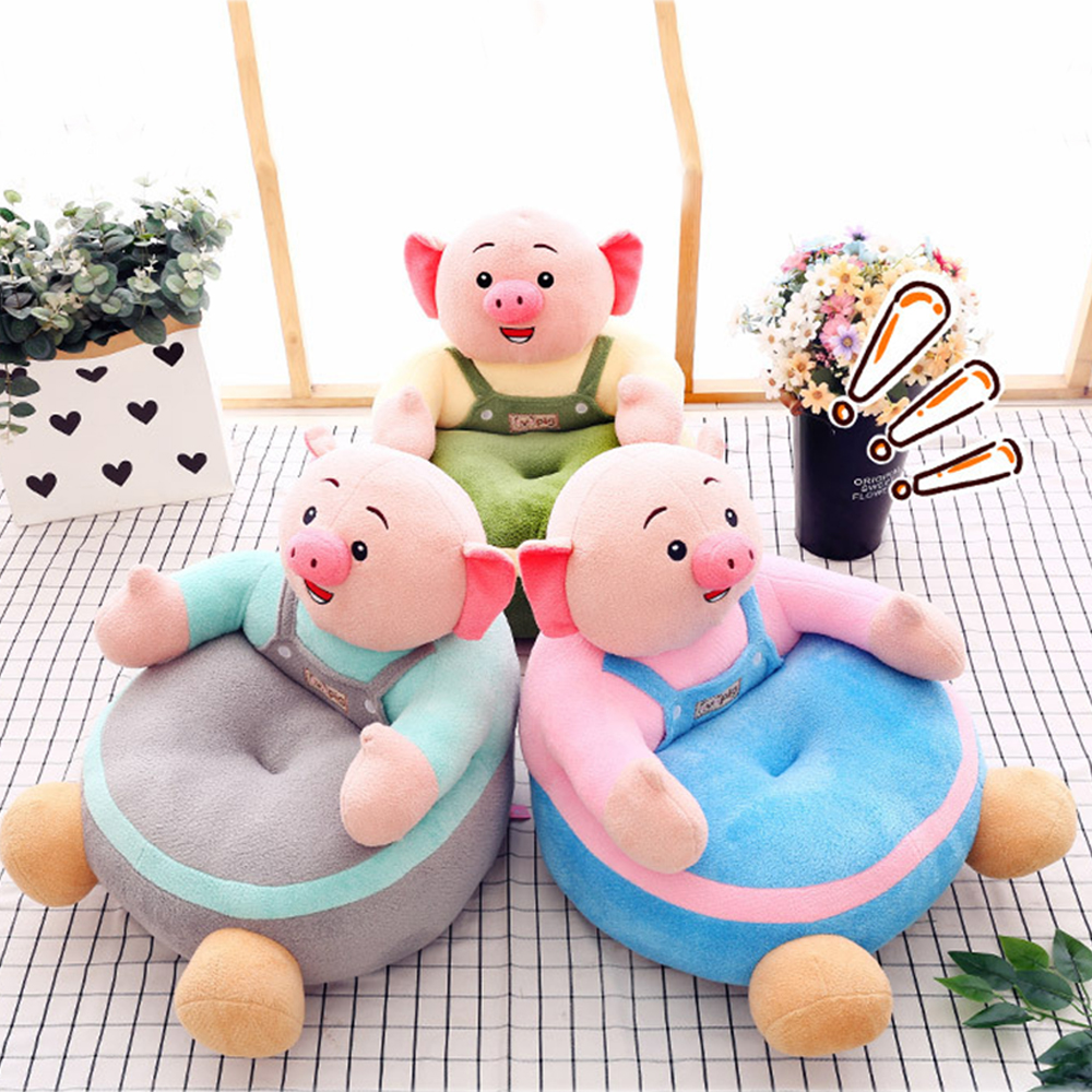 Plush Chair Learning To Sit Baby Sofa Support Seat Cover Comfortable Toddler Nest Puff Washable Without Filler Cradle Sofa Chair