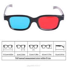 Glasses Game Movie Anaglyph 3d Blue Cyan Red Black Frame for DVD Au20/20-Dropship Universal