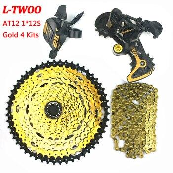 Ltwoo at12 mtb mountain bike groupset 12 velocidade shifter alavanca traseira desviador corrida cassete 52 t ybn corrente ouro para shimano