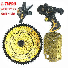 LTWOO AT12 MTB Mountain Bike Groupset 12 Speed Shifter Lever + Rear Derailleur RACEWORK Cassette 52T +YBN Chain Black Gold