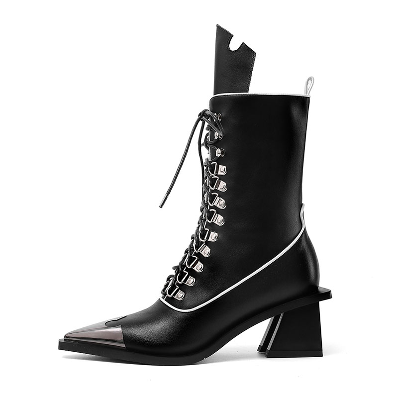 AGODOR Real Leather Women Mid Calf