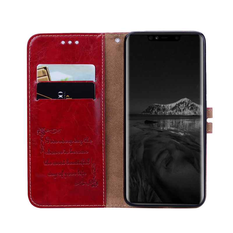 Coque P20 P30 Mate 20 Lite Pro Simple Flip Wallet Case For Huawei P8 P9 P10 Y7 Y5 Y6 Prime 2018 Y9 Y6 Y7 2019 Case Card Cover in Wallet Cases from Cellphones Telecommunications