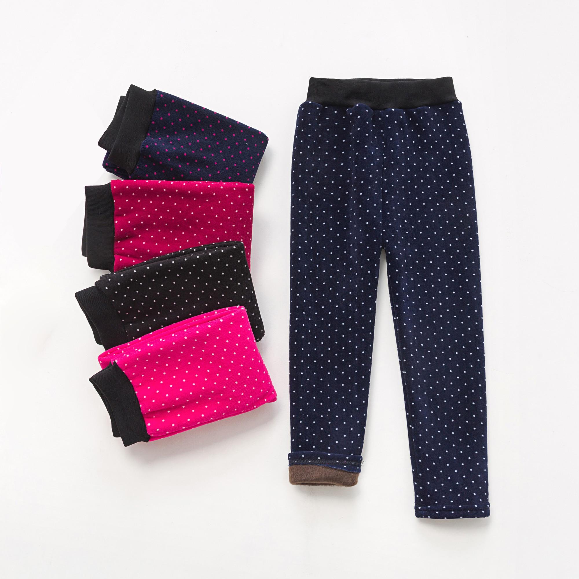 VEENIBEAR Warm Winter Girls Leggings Plus Velvet Girls Pants Kids Children Pants Girls Winter Clothing 2-7T 1