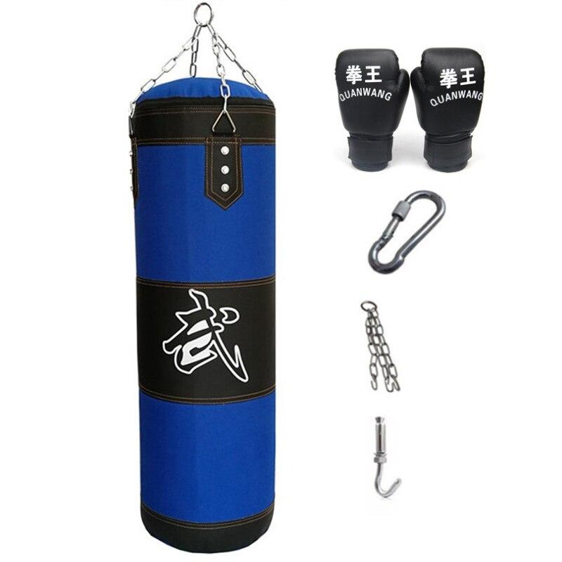 Kicking Sandbags Punching Bag Boxing Gloves Chain Hook Training Exercise Workout