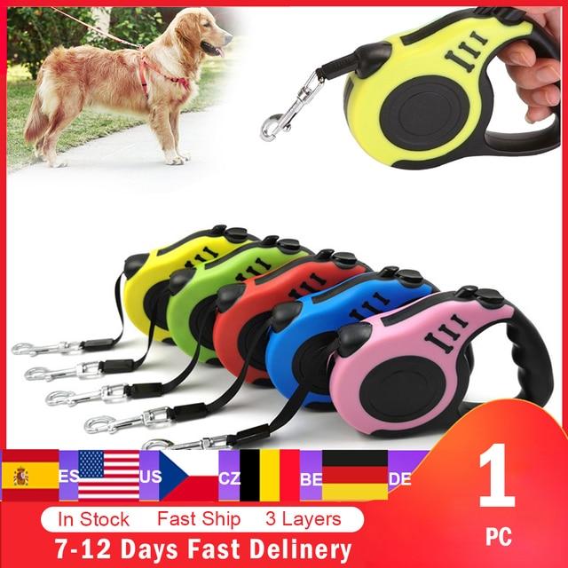 Correa retráctil para perro, Correa automática para perro cachorro, cuerda para mascota, para correr, para pasear, correa extensible para perros pequeños y medianos, productos para mascotas