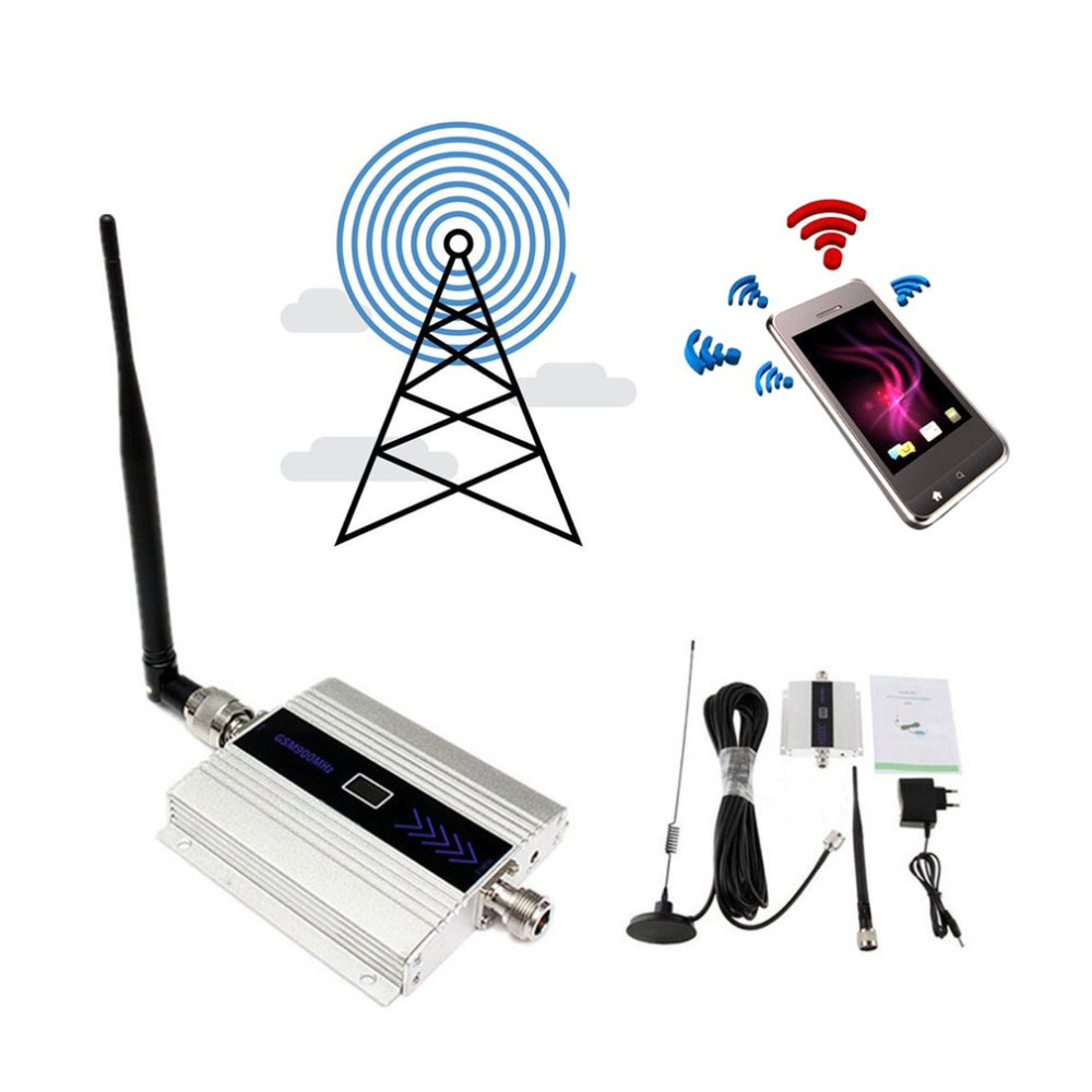 Small Size Alloy LCD GSM 900MHz Mobile Cell Phone Signal Repeater Booster Amplifier Cellular Repeater Device EU/US Plug