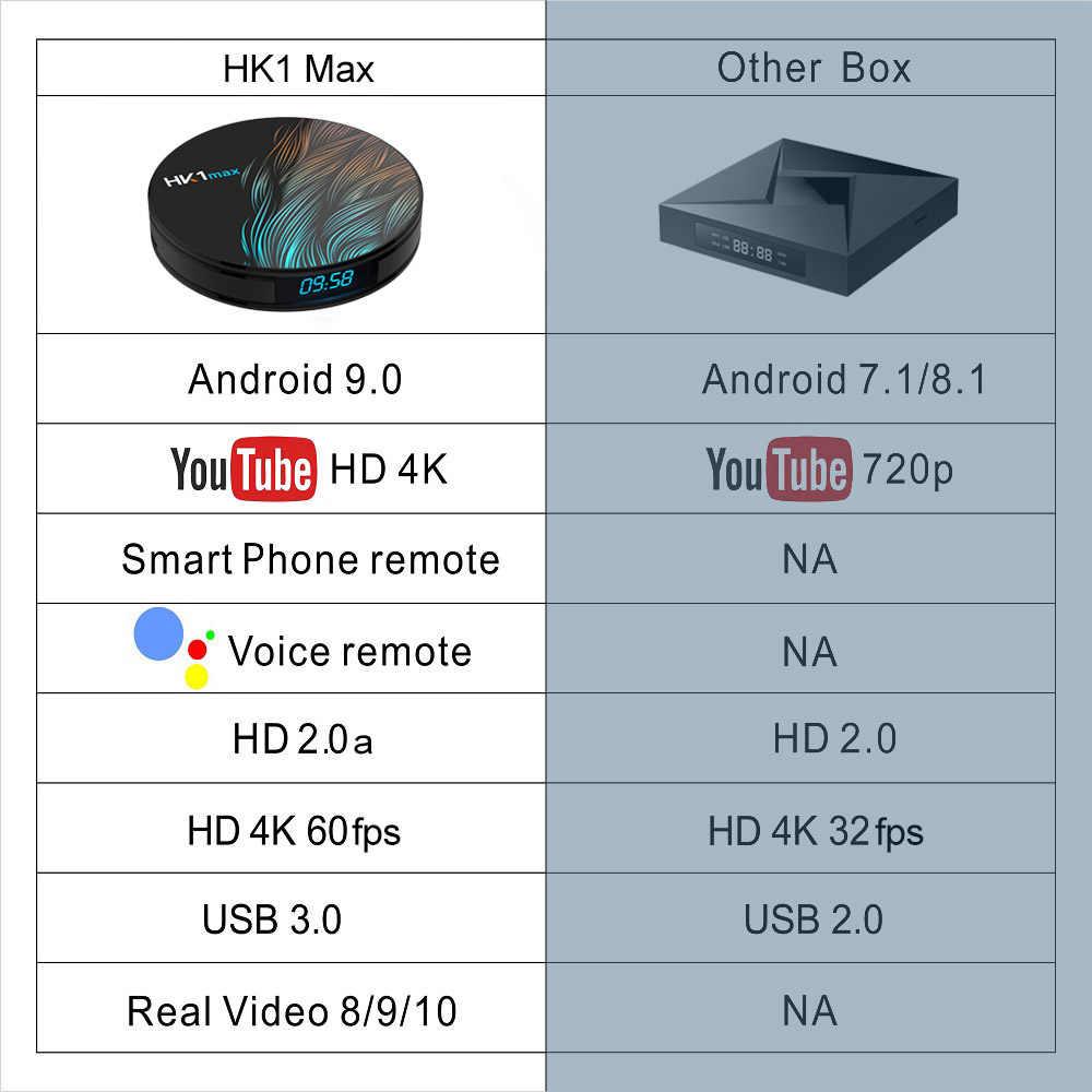 HK1 Max Smart TIVI Box Android 9.0 4GB 128GB 64GB 32GB Rockchip 4K WIFI Netflix set Top Box Truyền Thông Người Chơi 2GB16GB Android 9 HỘP