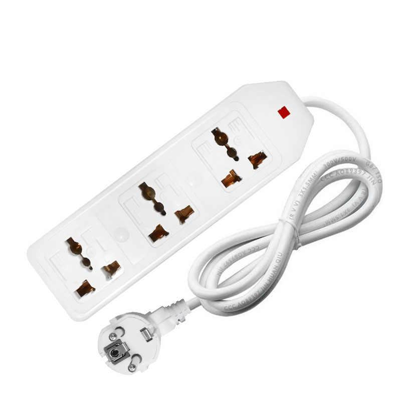 Новые путешествия адаптер Eu Us Au штепсельная розетка стандарта Великобритании Универсальный адаптер переменного тока в постоянный ток на выходе Мощность полосы Многофункциональность удлинитель 0,5/1/1.5/2/3/5m 3500W