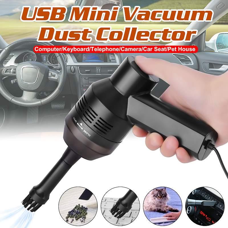 3.5W Black Portable Mini Handheld USB Keyboard Vacuum Cleaner For Laptop Desktop PC