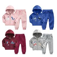 Sleeved Coat + Pants Suit 2019 New Kids Outwear Suit 2 Pc/set Newborn Baby Boys Autumn Clothing Girls Velvet Outfit Hoodie Long