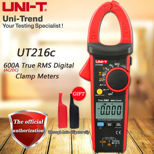 UNI-T UT216C AC/DC 600A True RMS Digital Clamp Meter/Relative Measurement/Temperature Test/Frequency Measurement/VFC/NCV(China)