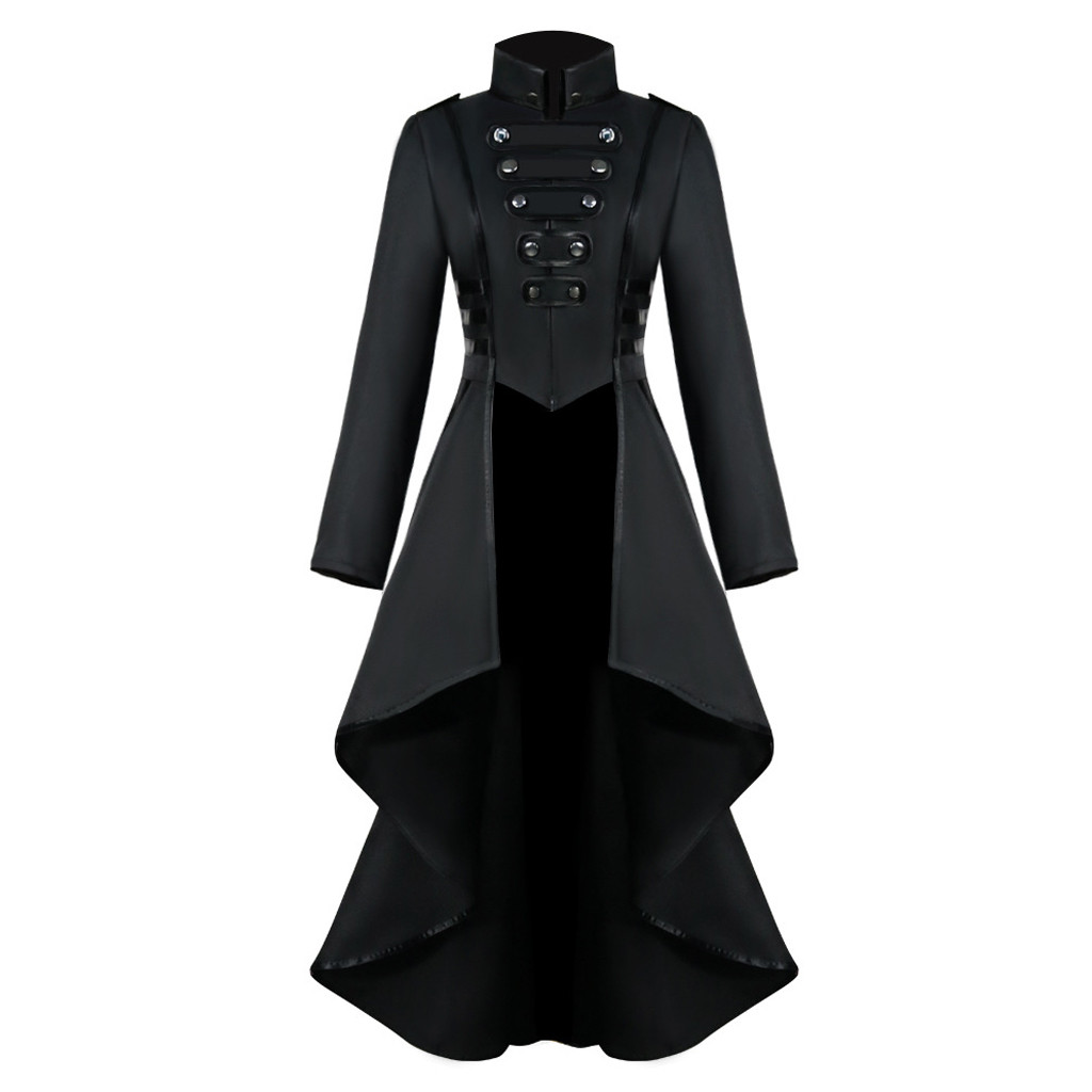 Women Halloween Jackets Gothic Steampunk Button Lace Corset Casual Halloween Costume Coat Tailcoat Jacket Dropshipping M840#