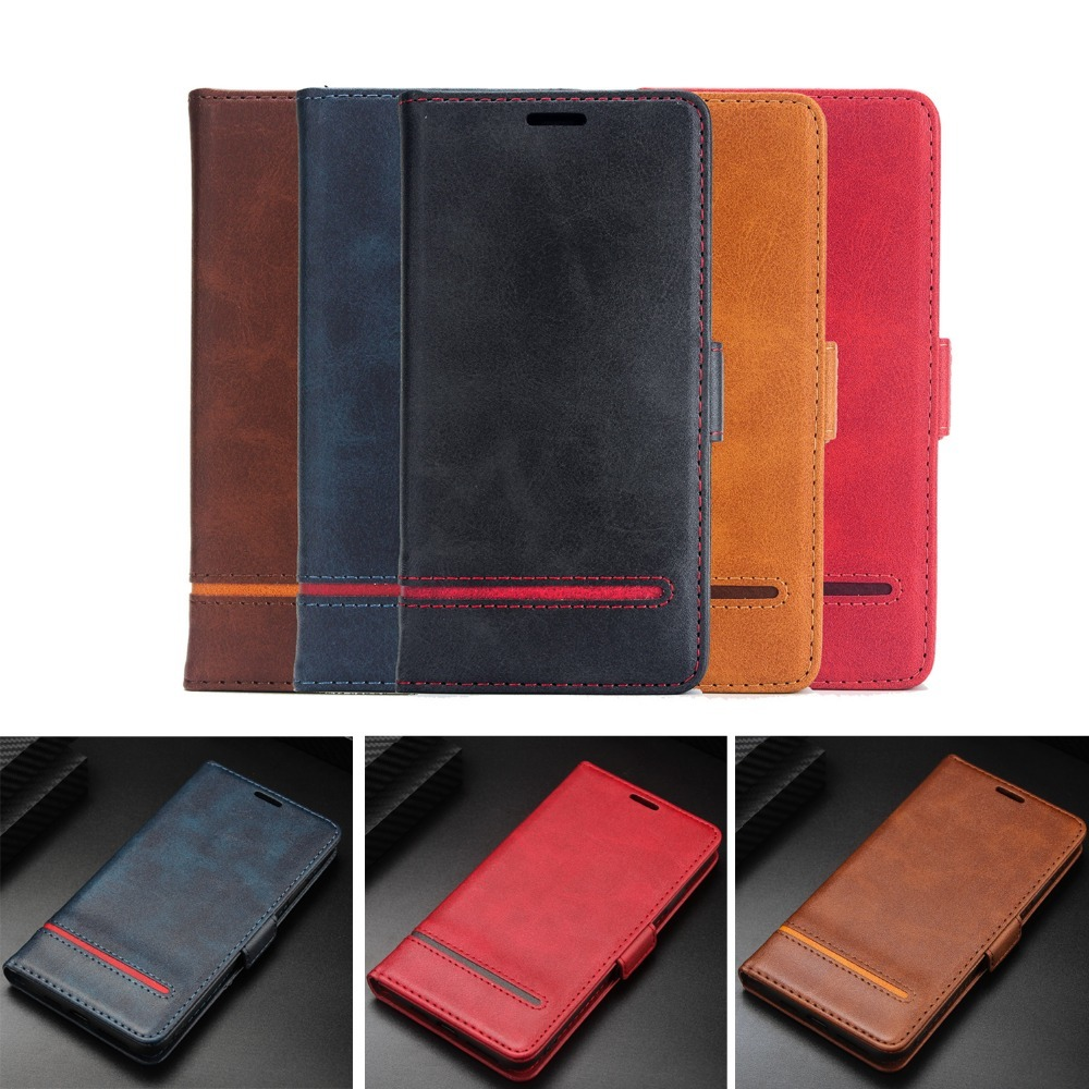 Luxury Fundas for IPhone Xs Max Case XR Funda Flip leather Fundas for iPhone 8 7 Plus 6S 6 Plus Plain Vintage Wallet Books Cover