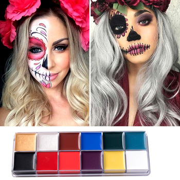 12 Colors Face Body Art Painting Body Paint Oil Painting Tattoo Makeup Cosmetic Bodypainting Halloween Makeup Carnaval Products Buy At The Price Of 2 05 In Aliexpress Com Imall Com
