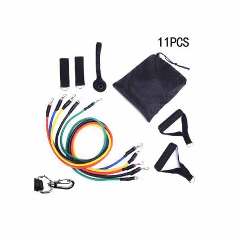 11/14/12/17Pcs Resistance Bands Set Expander Yoga Fitness Rubber Tubes Band Stretch Training Home Gyms Workout Elastic Pull Rope image