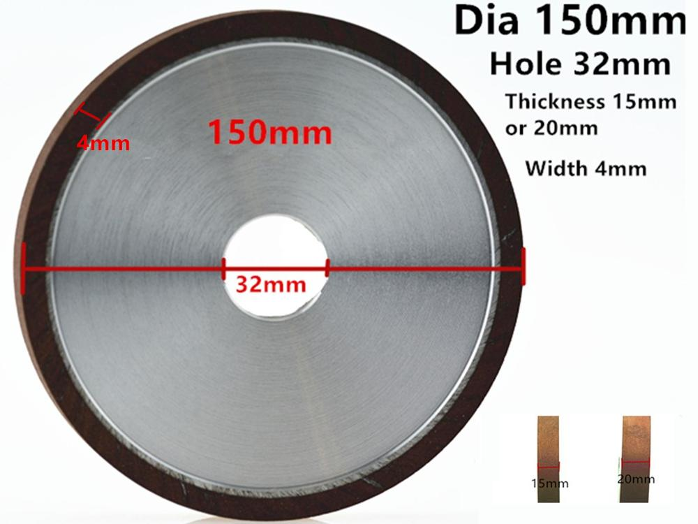 Jrealmer 150mm Diamond Grinding Wheel Hole 32mm Processing Saw Blade Cutter Grinder 32mm Hole
