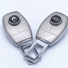 1 pçs cinto de segurança do veículo extensor logotipo do carro fivela clipe para mini jaguar citroen hyundai kia chevrolet skoda nissan opel vw
